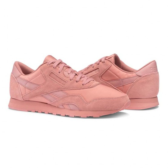 Reebok Classic Nylon Shoes Womens Sandy Rose (923TNEAV)