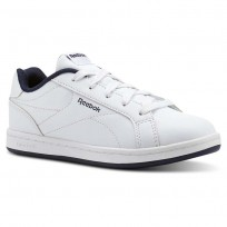 Reebok Royal Complete Shoes For Kids White/Navy (924QCARX)