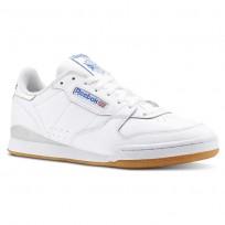 Reebok Phase 1 MU Shoes Mens White/Skull Grey/Vital Blue/Gum (927DENUI)