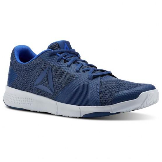 Reebok Flexile Training Shoes Mens Bunker Blue/Collegiatenvy/Vitalblue/Spiritwht (927HCGFM)