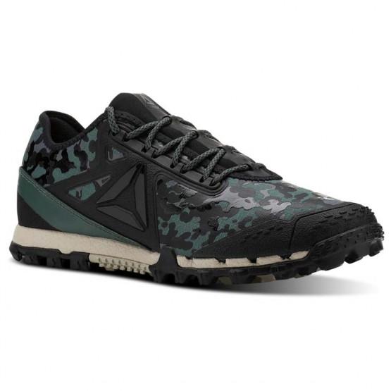 Reebok AT SUPER 3.0 Running Shoes Mens Camo-Black/Alloy/Chalk Green/Parchment (929VSNTQ)