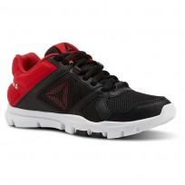 Reebok YourFlex Train 10 Training Shoes Boys Black/Primal Red (930LYHAQ)