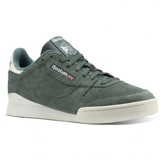 Reebok Phase 1 Shoes Mens Pn-Chalk Green/Chalk (942ABKJT)