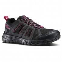 Reebok DMX Ride Comfort RS 3.0 Outdoor Shoes Womens Black/Gravel/Graphite/Pink (942EZQUP)