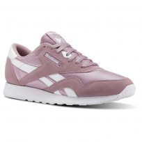 Reebok Classic Nylon Shoes Mens Sf-Infused Lilac/White (944ICZND)