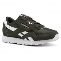 Reebok Classic Nylon Shoes For Kids Dark/White (945RBFJA)
