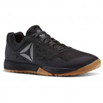 Reebok CrossFit Nano Shoes Womens Black/Gum/White/Pure Silver (955LDIOA)