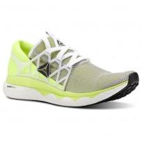 Reebok Floatride Run Running Shoes For Men White/Yellow/Black (958GXSRZ)