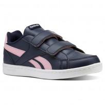 Reebok Royal Prime Shoes Girls Collegiate Navy/Light Pink/White (960PIFHT)