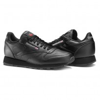 Reebok Classic Leather Shoes For Men Black (966ULBSA)