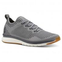Reebok Print Smooth Running Shoes For Men Grey (966VSKZD)