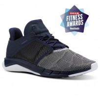 Reebok Fast Flexweave Running Shoes Womens Collegiate Navy/Ultima Purple/White (967NMBIL)