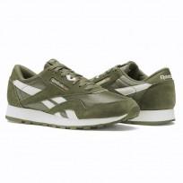 Reebok Classic Nylon Shoes For Kids Green/White (969WBMIQ)