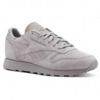 Reebok Classic Leather Schuhe Damen Grau (971EKJBV)