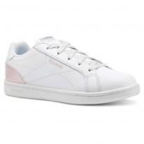 Reebok Royal Complete Shoes For Girls White/Pink/Silver (971SFDBU)