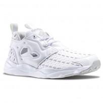 Reebok Furylite New Woven Shoes Womens White/Steel (974TYZOP)