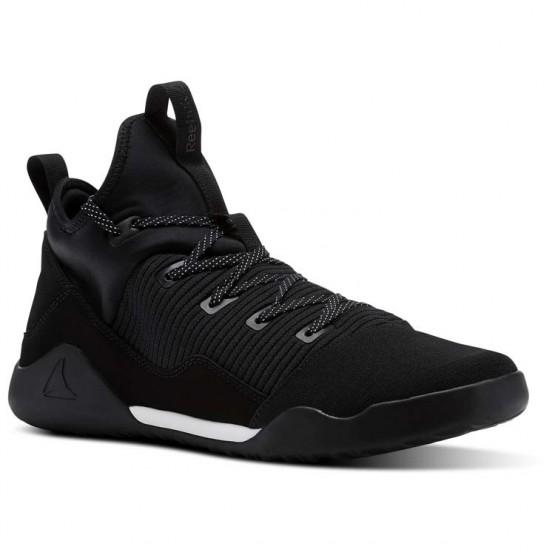 Reebok Combat Noble Tactical Shoes Mens Black/White (978VFDKT)