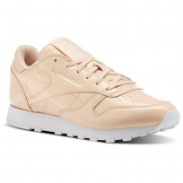 Reebok Classic Leather Shoes Womens Pink/Desert Dust/White (981DPTGJ)