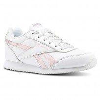 Reebok Royal Classic Jogger Shoes For Girls White/Pink/Silver (981IFTBD)
