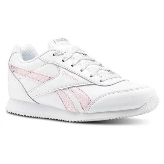 Reebok Royal Classic Jogger Schuhe Mädchen Weiß/Rosa/Silber (981IFTBD)