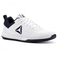 Reebok CXT Training Shoes For Men White/Navy/Silver (983PFWBY)