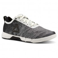 Reebok Speed Training Shoes Womens Chalk/Black/Ash Grey (988JKHQG)