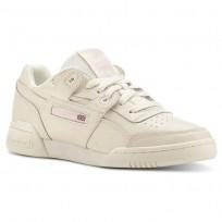 Reebok Workout Plus Shoes Womens Vintage-White/Practical Pink (994SXEUW)