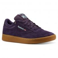 Reebok Club C 85 Shoes Mens Mc-Deep Purple/Malachite Lite/Gum (999JAGST)