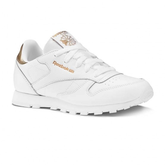 Reebok Classic Leather Shoes Girls Rm-Wht (999YLXEB)